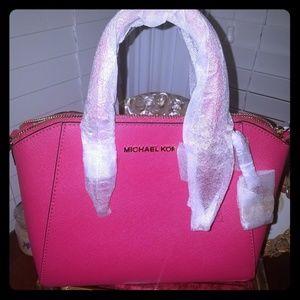 Michel Kors hot pink CIARA messanger/crossbody